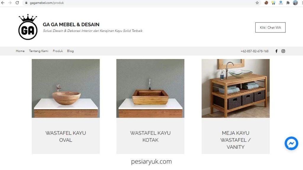 Kerajinan Kayu Unik dari GAGA Mebel dan Desain Interior